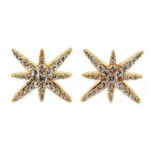 Gold polaris small crsytal earrings